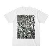 シンプルデザインTシャツ 黒雑草