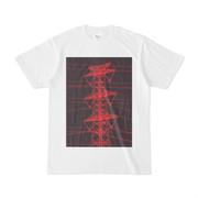 シンプルデザインTシャツ 赤い鉄塔