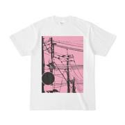 シンプルデザインTシャツ 電線と標識