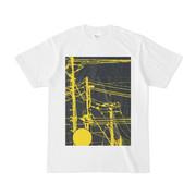シンプルデザインTシャツ 線と柱