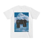 Tシャツ ホワイト 雲と信号