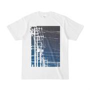シンプルデザインTシャツ 電線×夜空
