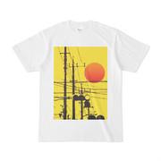 シンプルデザインTシャツ 電柱×信号×黄色