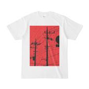 シンプルデザインTシャツ 赤電線