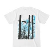 シンプルデザインTシャツ 電柱×木