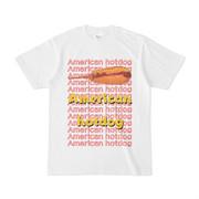 シンプルデザインTシャツ American hotdog