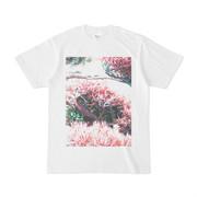 シンプルデザインTシャツ ピンク木2