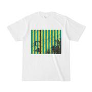 シンプルデザインTシャツ 緑黄電線