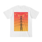 シンプルデザインTシャツ 羽鉄塔