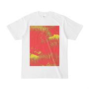 シンプルデザインTシャツ 赤黄松