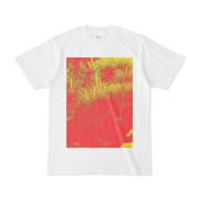 シンプルデザインTシャツ 赤黄松 2