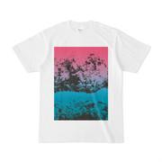 シンプルデザインTシャツ 赤青葉2