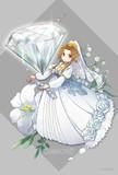 誕生石ドレス 4月のダイヤモンド