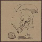 地上に出て来たのに雨でガッカリなほっぽちゃんと付き添いのイ級