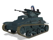 【MMDモデル配布】 九四式軽装甲車スーパー改 【ガールズ&パンツァー】