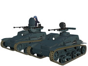 【MMDモデル配布】 九四式軽装甲車無人砲塔 【ガールズ&パンツァー】