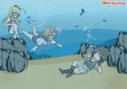 摩耶が海底で発見されました!