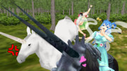 第6回T-1グランプリ支援絵 幻獣に乗る仙人様