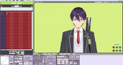 剣持刀也カラーのMMDUI