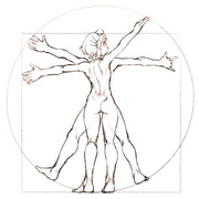 ウィトルウィウス的人体図的な蒼姫ラピス
