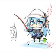 猫を釣り上げたヴェールヌイ