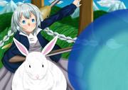 闘えあかりちゃん、ウサギに乗って