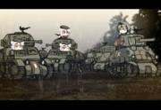 カナダ軍、米軍 機甲部隊の合流