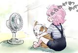 扇風機とブルドッグ