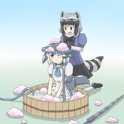 イッカクはアライさんが洗ってあげるのだ!