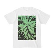 シンプルデザインTシャツ 生垣の雑草