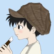 笛を吹くニットキャップ