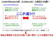 【VR】LindenLabと他社(多くの場合)とのサービスの作り方の違い