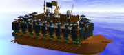 LDDで軍船作ってみた。