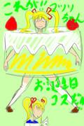 マツリちゃん誕生日絵 ラフ絵