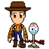 pixel Woody&Forky