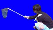 網で魚を捕まえる関東クレーマーBB