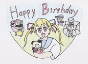 マツリちゃんお誕生日お祝いイラスト