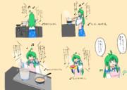 台所の早苗さん