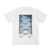シンプルデザインTシャツ 夏の鉄塔