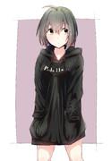 ■黒ぶかパーカー美穂ちゃん