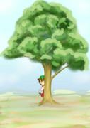 木の陰から・・