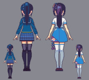 葵ちゃん 擬似3D(ドット絵)