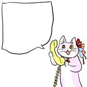 電話あかねこ(文字無し版)