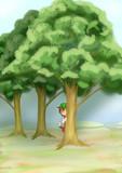 林の陰から・・