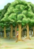 森の陰から・・
