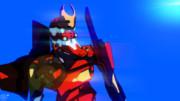 【MMD】【blender】エヴァ2号機シェーディングテスト