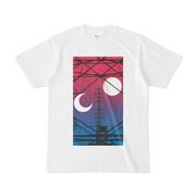 シンプルデザインTシャツ 月と鉄塔