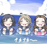 海でプカプカするワンステップス
