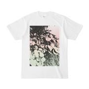 シンプルデザインTシャツ 雑草トーン