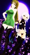 月夜の黒殺親子セクシー並び立ち【Fate/MMD】